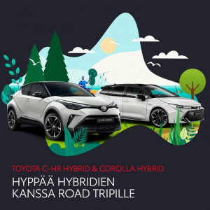 Kun matka on yhtä tärkeä kuin määränpää. Nyt Corolla-mallistoon Hybridipaketti 0 € ja C-HR-mallistoon 990 € ☀️☀️