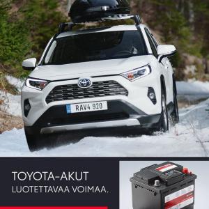Aidot Toyota-akut ovat täydellisen yhteensopivia Toyotasi kanssa. Huoltovapaaksi suunniteltu ja kilpailukykyisesti hinnoiteltu ...