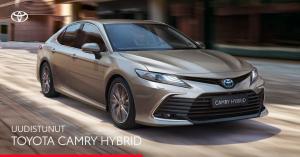 Ylellinen Toyota Camry Hybrid on nyt uudistunut. Nauti sen päivitetystä muotoilusta, äly-yhteyksistä ja turvaominaisuuksista. Te...