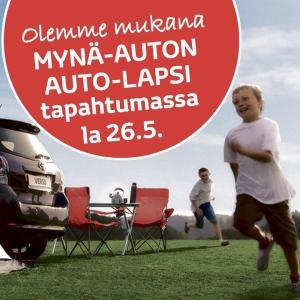 Olemme mukana Mynä-Auton AUTO-LAPSI -tapahtumassa la 26.5. klo 10-14. Tapahtumassa mahdollisuus koejaa Toyotan hybridit Auris ja Yaris sekä tavara-autot Proace ja Hilux. Katso lisää https://bit.ly/2ID5ZKc