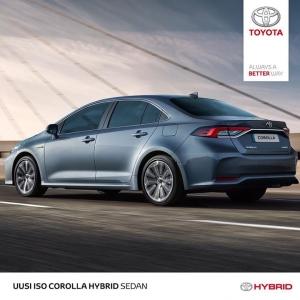 Corolla on uudestisyntynyt. Suurenmoinen ajettavuus, suurenmoinen design. Uusi Corolla Hybrid, miksi valita, kun voi aina saada suurimman? Tervetuloa kaikkien aikojen koeajoon!