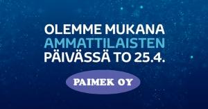 Olemme mukana Paimekin Ammattilaisten päivässä torstaina 25.4. klo 10-16. Tarjouksia, tuote-esittelyjä ym. Koeajettavissa Toyotan hybridiuutuuksia ja Proace L2H1 2.0 D 180 automaatti. Paimek sijaitsee osoitteessa Hiidenkatu 7, 20360 Turku, Leaf Center. Tervetuloa! https://www.autokiila.fi/yritys/ajankohtaista/olemme-mukana-paimekin-ammattilaisten-paivassa-to-25.4..html